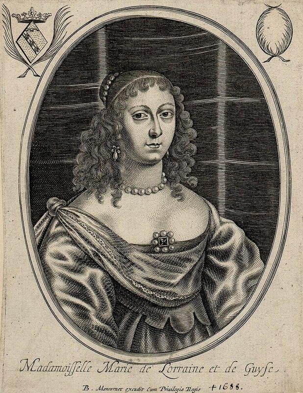 Portrait de Marie de Lorraine gravé par Balthasar Moncornet