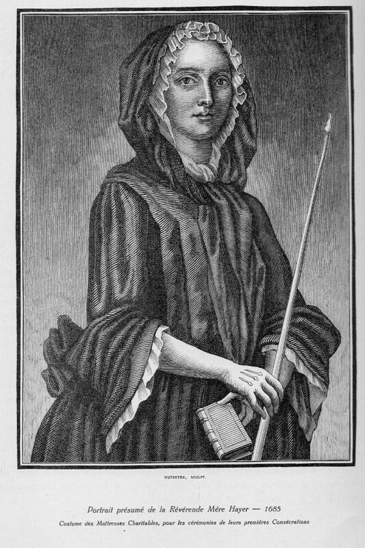 Portrait présumé de Mère Marie Hayer,  première supérieure générale des Maîtresses des Ecoles Charitables, en tenue de cérémonie