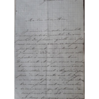 Lettre de Mère Sainte Mathilde Raclot à Mère Saint Albert