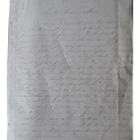 Lettre de Mère Sainte Mathilde Raclot à la supérieure générale