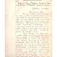 Copies des lettres concernant la fondation d'une communauté au Japon